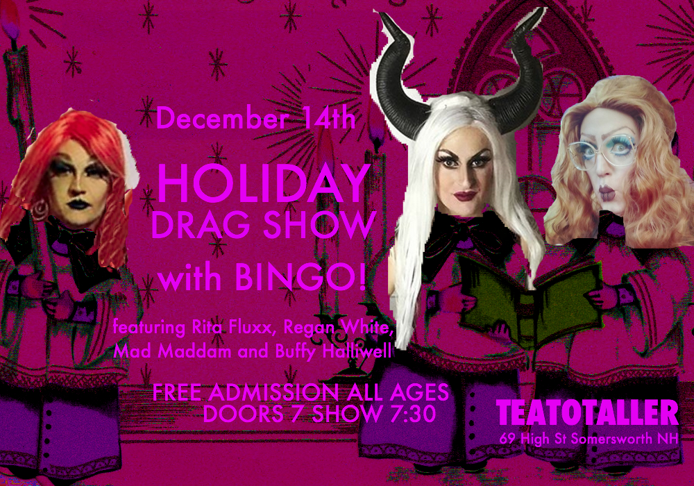 Teatotaller event: Holiday Drag Show + Bingo