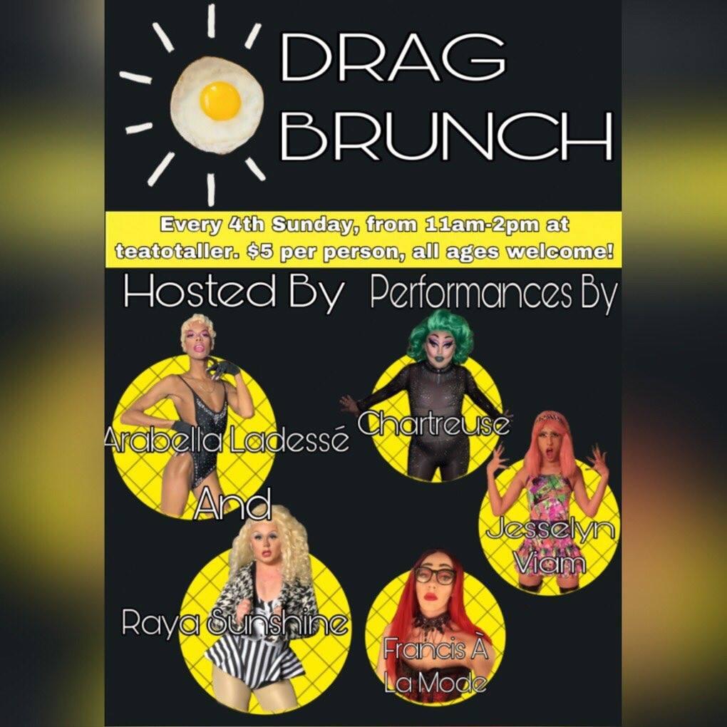 Teatotaller event: Drag Queen Brunch!