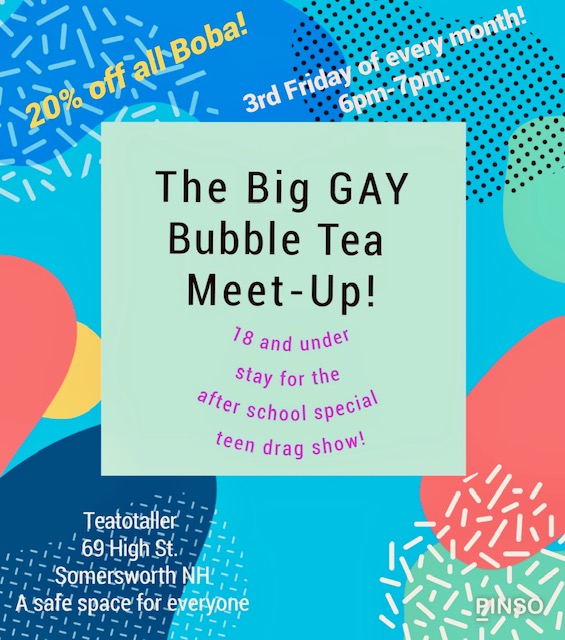 Teatotaller event: The Big Gay Bubble Tea Meet-Up!